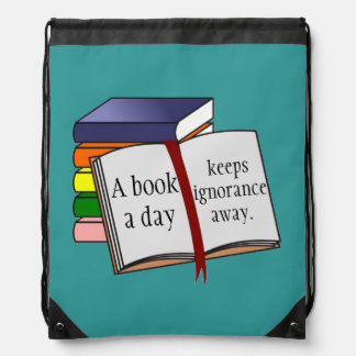Support literacy Encourage reading Books Drawstring Bags
