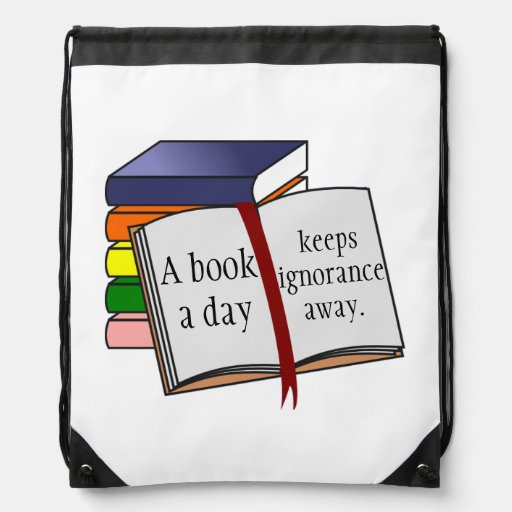 Support literacy Encourage reading Books Drawstring Bag