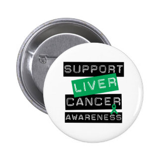 Support Liver Cancer Awareness 6 Cm Round Badge