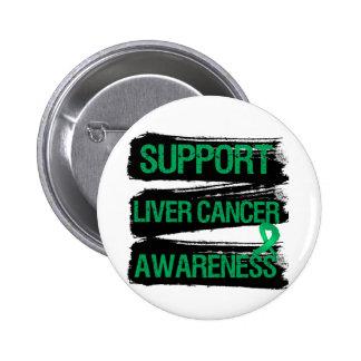 Support Liver Cancer Awareness Grunge 6 Cm Round Badge
