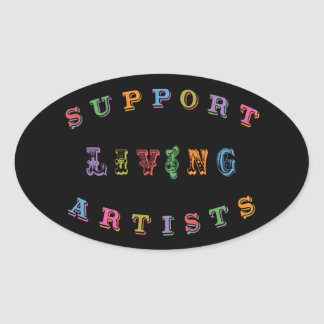 Support Living Artists Oval Sticker