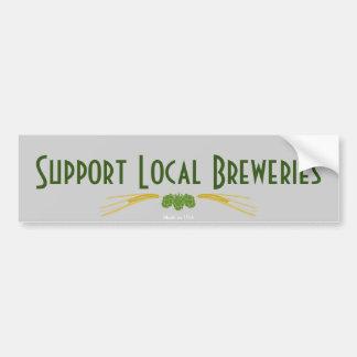 Support Local Breweries Bumper Sticker