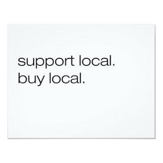 Support Local Buy Local 11 Cm X 14 Cm Invitation Card