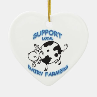 Support Local Dairy Farmers Christmas Ornament