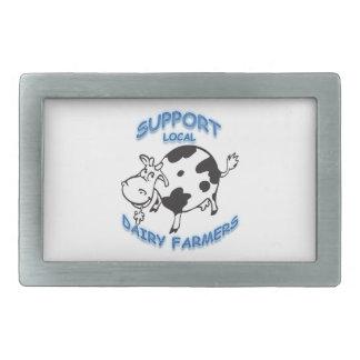 Support Local Dairy Farmers Rectangular Belt Buckle