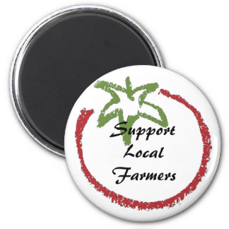 Support Local Farmers 6 Cm Round Magnet