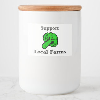 """Support Local Farms Food Container Label (3"""" x 2"""")"""