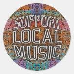Support Local Music Round Sticker