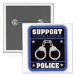 Support Local Police 15 Cm Square Badge