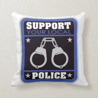 Support Local Police Cushion