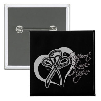 Support Love Hope - Melanoma 15 Cm Square Badge