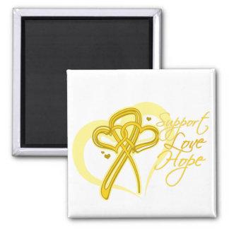 Support Love Hope - Neuroblastoma Cancer Refrigerator Magnets