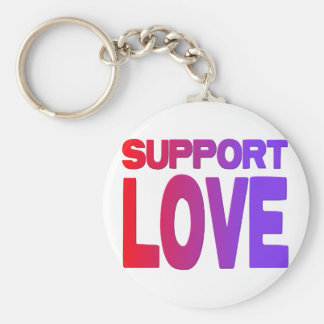 support love key chains