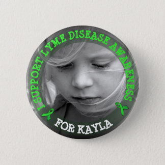 Support Lyme Disease Awareness Personalized Button