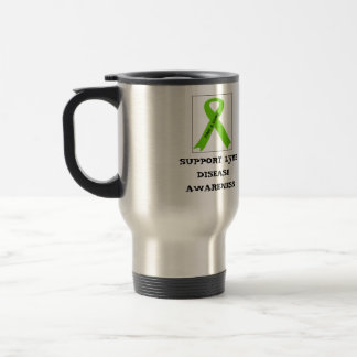SUPPORT LYME DISEASE AWARENESS STAINLESS STEEL TRAVEL MUG