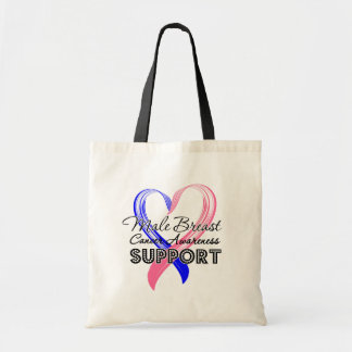Support Male Breast Cancer Awareness Bag