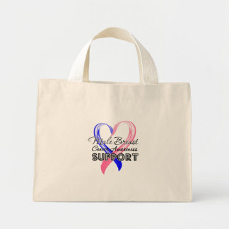 Support Male Breast Cancer Awareness Mini Tote Bag