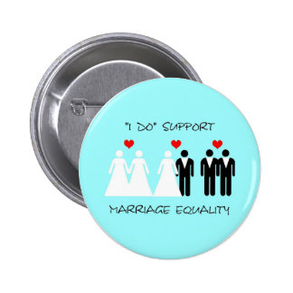 Support Marriage Equality Button - Round