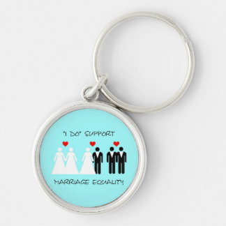 Support Marriage Equality Keychain - Round