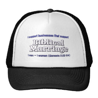 Support Marriage Trucker Hats