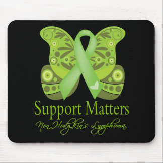Support Matters - Butterfly NonHodgkins Lymphoma Mouse Pad