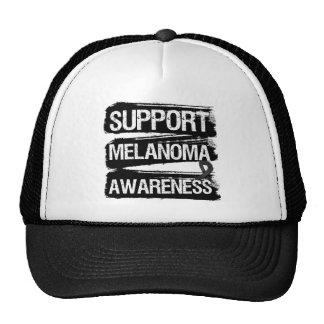 Support Melanoma Awareness Grunge Hat