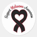 Support Melanoma Awareness Round Sticker