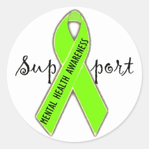 Support Mental Health Awareness Bag/DivaLime Sticker