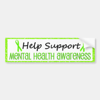 Support Mental Health Awareness Bumper Stickers
