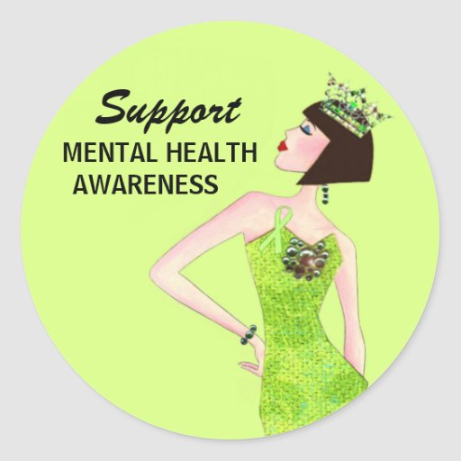 Support Mental Health Awareness DivaLime stickers