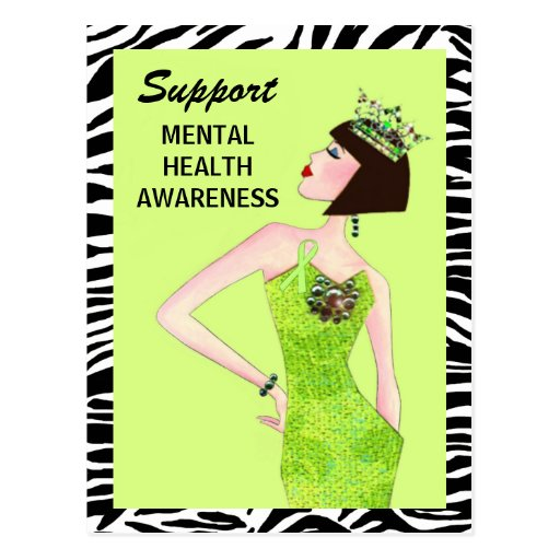 """Support Mental Health Awareness"" Postcards"