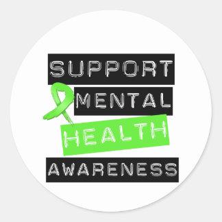 Support Mental Health Awareness Round Sticker
