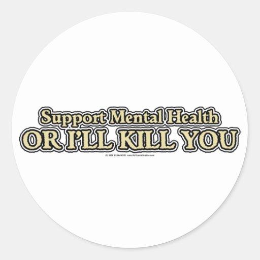 Support Mental Health Round Sticker