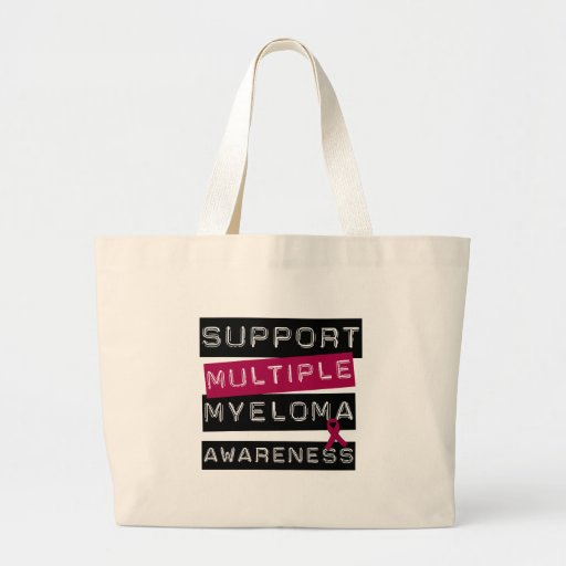 Support Multiple Myeloma Awareness Canvas Bags