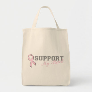 Support My Rack Pink Ribbon Bag