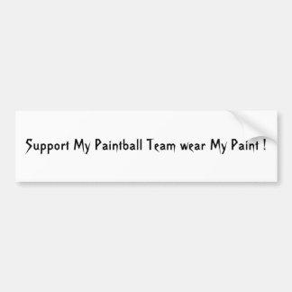 Support My Team Bumper Sticker