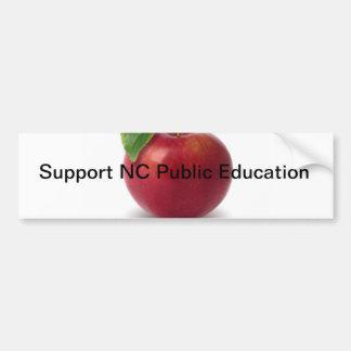 Support NC Public Education Bumper Sticker