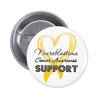 Support Neuroblastoma Cancer Awareness 6 Cm Round Badge
