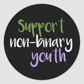 Support Non-Binary Youth Stickers