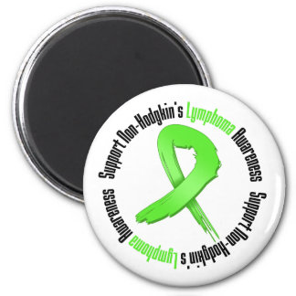 Support Non Hodgkins Lymphoma Awareness 6 Cm Round Magnet