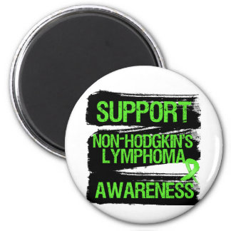 Support Non-Hodgkins Lymphoma Awareness Grunge 6 Cm Round Magnet