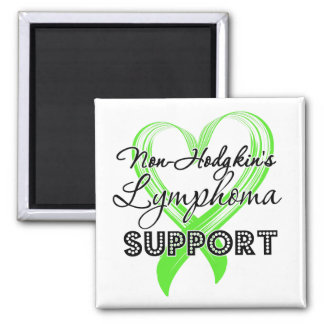 Support Non-Hodgkin's Lymphoma Awareness Square Magnet