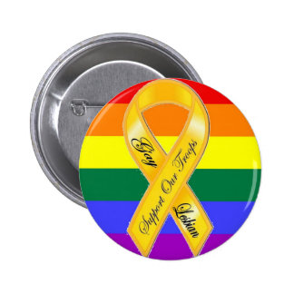 Support Our Gay and Lesbian Troops! 6 Cm Round Badge