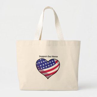 Support Our Heros Jumbo Tote Bag