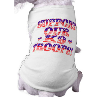 Support Our K9 Troops Sleeveless Dog Shirt