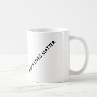 Support our police basic white mug