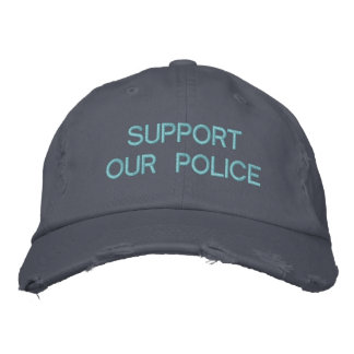 SUPPORT OUR POLICE CUSTOM CAP by eZaZZleMan.com Baseball Cap
