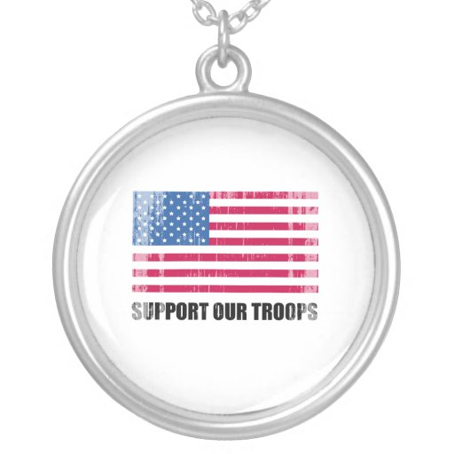Support our troops (2) Faded.png Necklaces