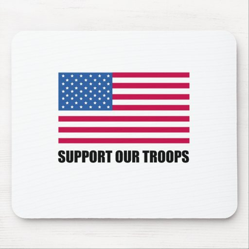 Support our troops (2) mouse pad