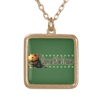Support Our Troops 2 Custom Necklace